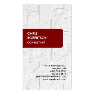 Maroon Brownish Red Brick Wall Business Card
