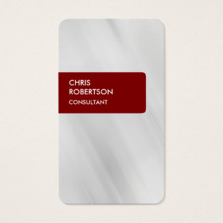 Maroon Brownish Red Gray Attractive Business Card