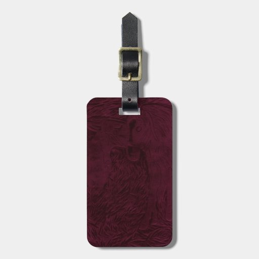 Maroon Buford and Sugar Tag For Luggage