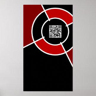 maroon bullseye QR code Poster