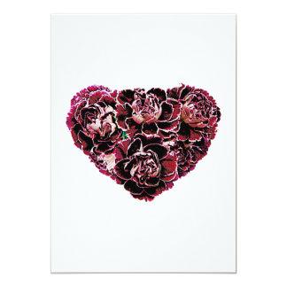 Maroon Carnation Heart Card
