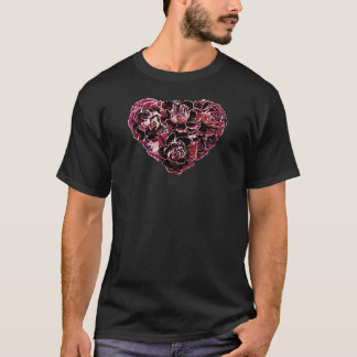 Maroon Carnation Heart T-Shirt