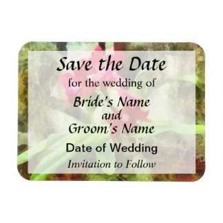 Maroon Cattleya Orchids Save the Date Rectangular Photo Magnet