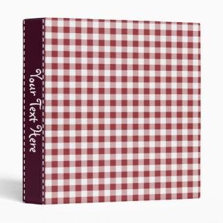 Maroon Checkered Pattern Binder