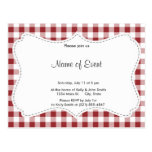 Maroon Checkered Pattern Postcard