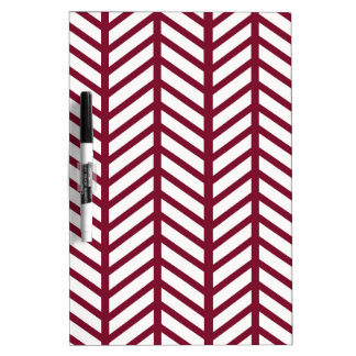 Maroon Chevron Folders Dry Erase Board