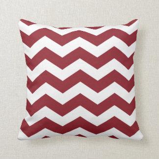 Maroon Chevron Pattern Throw Pillows Throw Pillow