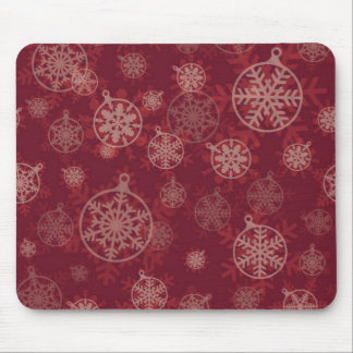 Maroon Christmas Mouse Pad