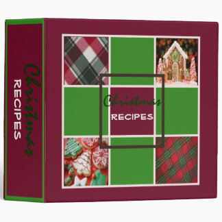 Maroon Christmas Recipes Binder