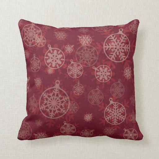 Throw Pillows For Maroon Couch : Maroon Christmas Throw Pillow Zazzle