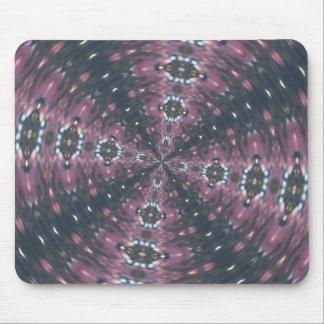 Maroon Colored Starscape Kaleiscope Mouse Pad