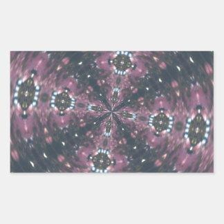 Maroon Colored Starscape Kaleiscope Rectangular Sticker