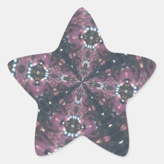 Maroon Colored Starscape Kaleiscope Star Sticker