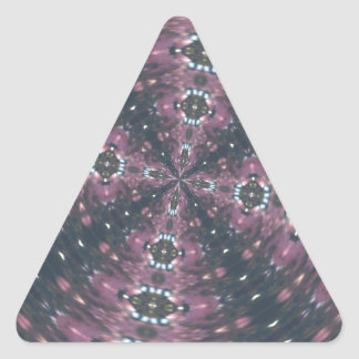Maroon Colored Starscape Kaleiscope Triangle Sticker