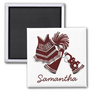 Maroon Custom Cheerleader Magnet