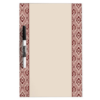 Maroon Damask Border Dry Erase Board