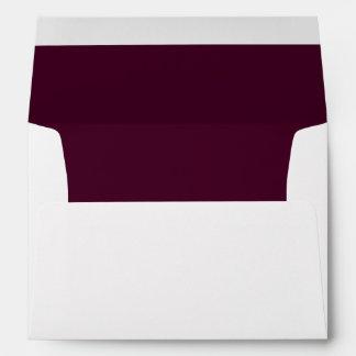 Maroon Darkest Invitation Envelope
