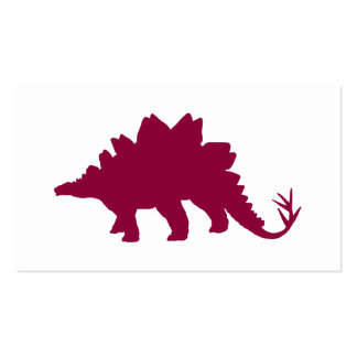 Maroon Dinosaur Double-Sided Standard Business Cards (Pack Of 100)