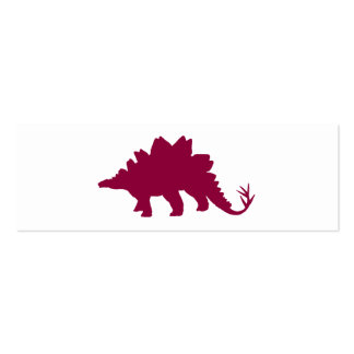 Maroon Dinosaur Double-Sided Mini Business Cards (Pack Of 20)