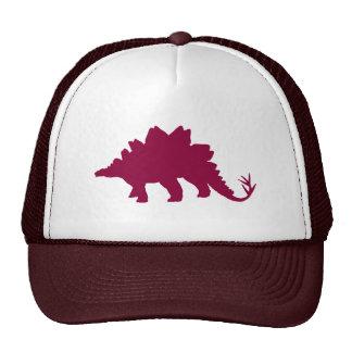 Maroon Dinosaur Trucker Hat
