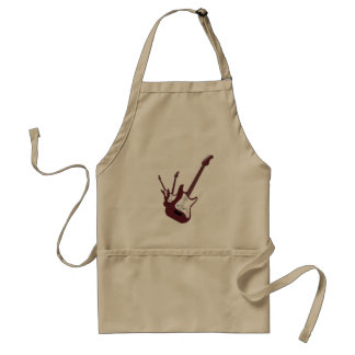 Maroon Electric Guitar, Red to Yellow Gradient Adult Apron