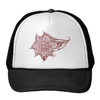 Maroon Eye Mandala Trucker Hat