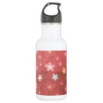 Maroon floral pattern water bottle