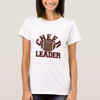 Maroon Football Cheerleader T-Shirt
