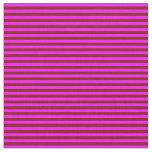 [ Thumbnail: Maroon & Fuchsia Lines Pattern Fabric ]