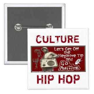 Maroon GO POSITIVE-Culture button