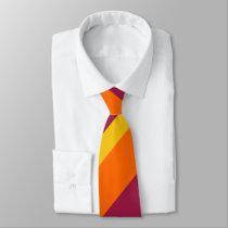 Maroon Gold and Orange Broad Regimental Stripe Neck Tie