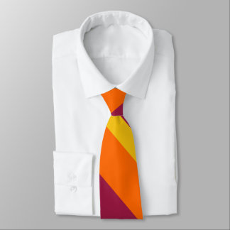Maroon Gold and Orange Broad University Stripe Tie