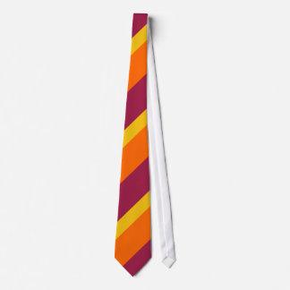 Maroon Gold and Orange Tie