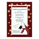 Maroon Gold Crawfish / Lobster Stars Graduation Personalized Announcements