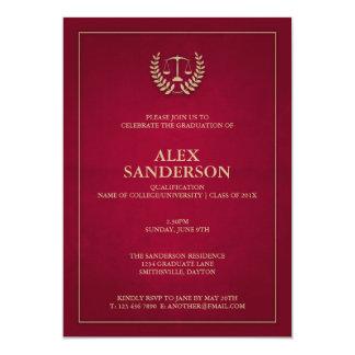 Maroon+Gold Justice Scales Law School Graduation Card