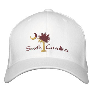 Maroon/Gold SC Palmetto Moon Embroidered Hat