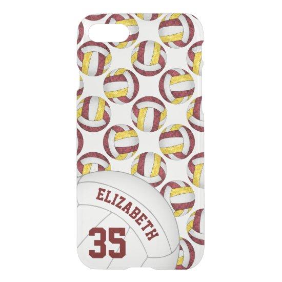 maroon gold school team spirit girls' volleyball iPhone 8/7 case