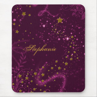 Maroon & Gold Tone Magical Mouse Pad