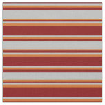 [ Thumbnail: Maroon, Grey, and Chocolate Colored Pattern Fabric ]