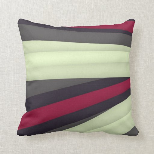 Throw Pillows For Maroon Couch : Maroon Grey White Pillow Zazzle