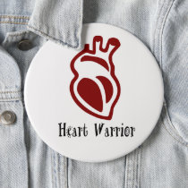 Maroon Heart Warrior  Button