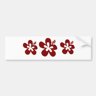 Maroon Hibiscus flower Bumper Stickers