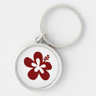 Maroon Hibiscus flower Keychain