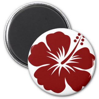 Maroon Hibiscus flower Magnet