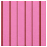 [ Thumbnail: Maroon & Hot Pink Pattern of Stripes Fabric ]