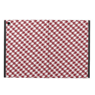 Maroon Houndstooth Pattern iPad Air Case
