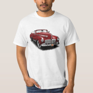 Maroon Hudson Convertible on White T-Shirt