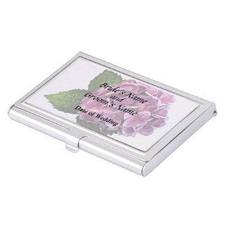 Maroon Hydrangea Wedding Products Business Card Case