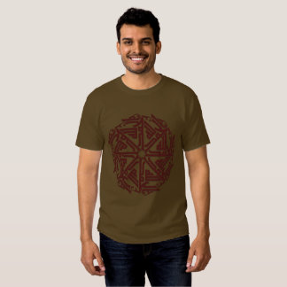 Maroon Islamic Decoration Men's Basic Dark T-Shirt