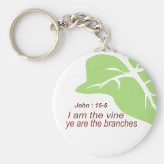Maroon John 15-5 Vine Green Keychain